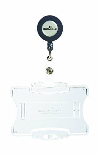 """Price comparison product image """"Durable Open Face Style ID Badge Holder with Retractable Reel,  Horizontal Or Vertical Orientation,  2-3 / 4"""""""" x 3-5 / 8"""""""",  Clear,  Pack of 10 (801119)"""",  one Card"""