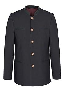 Herren Trachten Anzug aus Schurwolle, Marke Weis in der Farbe Anthrazit, Rottach/Egern (7026/7367-4/42/01), Größe:110