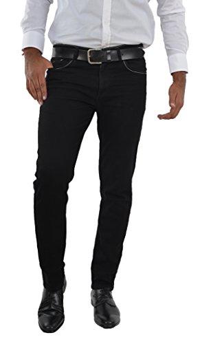 Marken Outlet Kriftel -  Jeans - Zip - Uomo Nero 30W x 30L