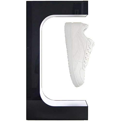 MKULOUS Acryl Magnetischer Schwebender Schuhständer Sneaker-Ständer 360° Freie Drehung Ausstellungen Schwebender Schuhständer