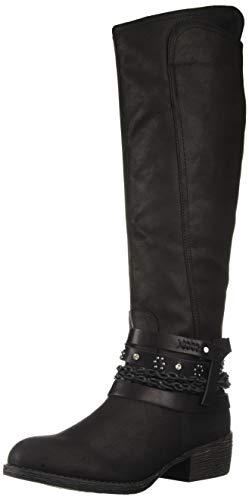 Sugar Damen Women's Decorative Knee-High Riding Boot Twink, dekorative Kniehohe Reitstiefel, Black Two-Tone, 38.5 EU