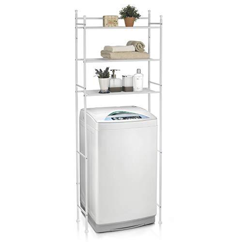 CARO-Möbel Waschmaschinenregal LAVADORA mit 3 Ablagen Toilettenregal Badezimmerregal Bad WC Stand...