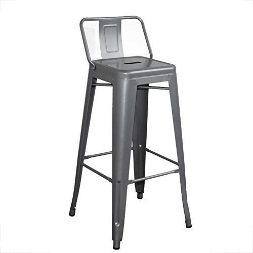 Chaises de Bar - chaises Hautes en métal de Style Industriel, Cuisine chaises comptoir café Petit déjeuner