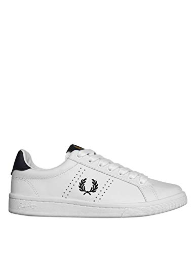 Fred Perry B721 Leather Sneakers Hommes Bianco - 45 - Sneakers Basse