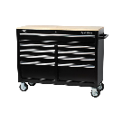 Husky 46 in. 9-Drawer Mobile Workbench with Solid Wood Top, Black-7440946R - The Home Depot