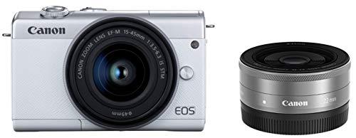 Canon ミラーレス一眼カメラ EOS M200 ダブルレンズキット ホワイト EOSM200WH-WLK-A