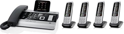 Gigaset DX800A Set mit 4X C430H Mobilteil - VoIP, ISDN, Anrufbeantworter, Bluetooth® ECO DECT