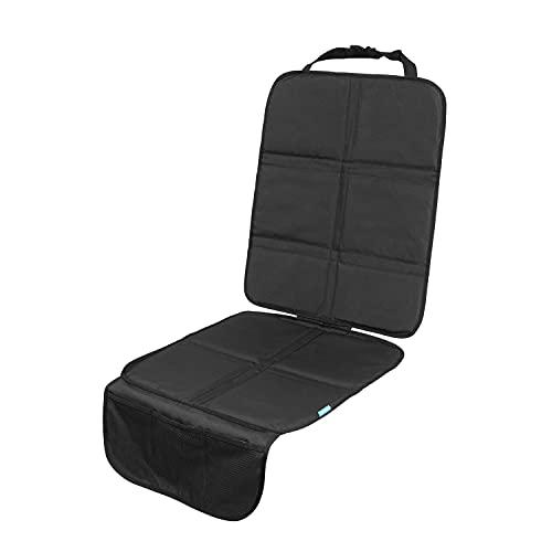 APRAMO Autositz-Schutzmatte mit Netz-Aufbewahrungstaschen, Anti-Rutsch Autositz-Schutzbezug für Kinderautositz