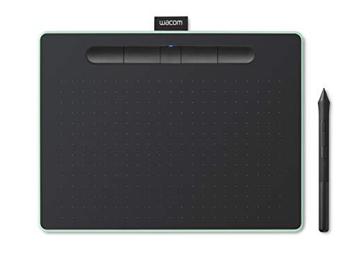 Amazon.co.jp限定ワコム ペンタブレット Wacom Intuos Mediumワイヤレス クリスタ付き グリーン Androidにも対応 データ特典付き TCTL6100WL E0