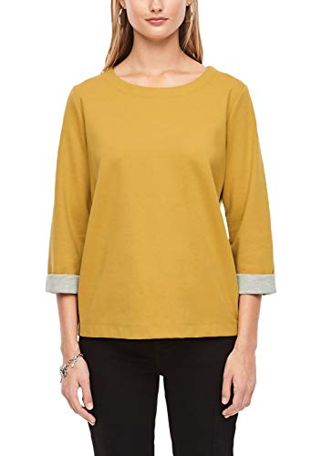 s.Oliver RED Label Damen Double Face-Shirt mit Tape-Streifen Yellow 38