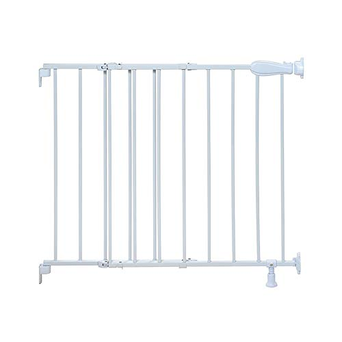 Summer Top of Stairs Simple to Secure Metal Gate, White, 29-42 Inch Wide
