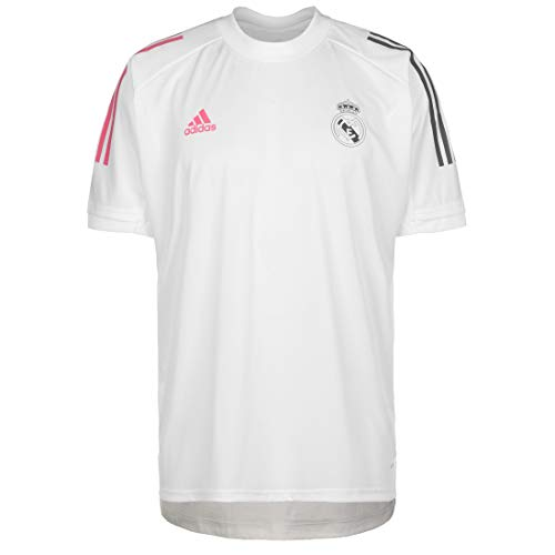 Adidas Real Madrid Saison 2020/21 T-Shirt, offizielles Trainingsshirt für Erwachsene XXL weiß