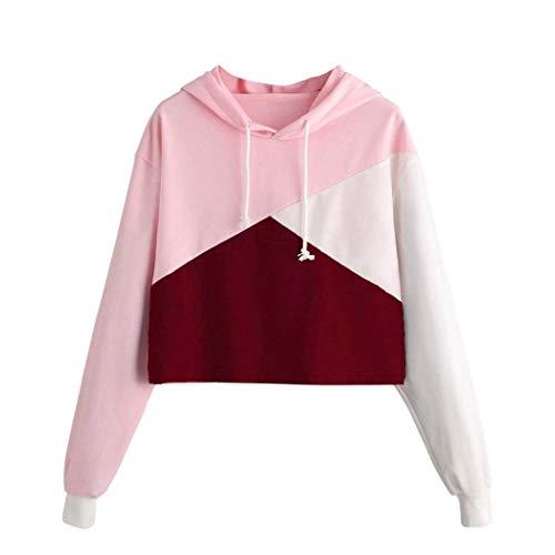 Girls' Hoodie, Misaky 2019 Fashion Parttern Long Sleeve Sweatshirt Pullover Blouse Jumper (Red, XL)