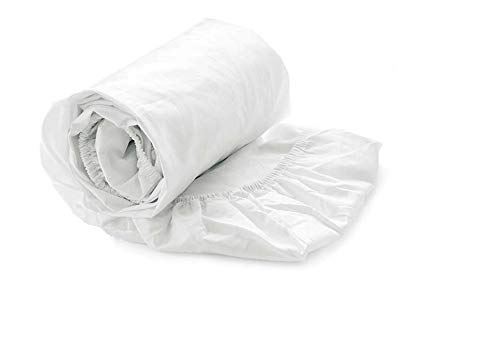 Heckett Lane 100% Baumwolle Perkal Spannlaken 180x200+35 cm. White