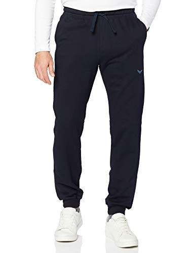 Trigema Herren Freizeithose Bio-Sweat Shorts Sportifs, Bleu (Navy C2C 546), 64 (Taille Fabricant: XXXL) Homme