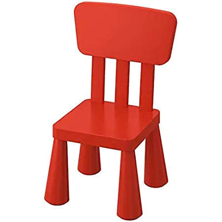 Ikea Mammut Chair (Plastic; Cotton , Red)