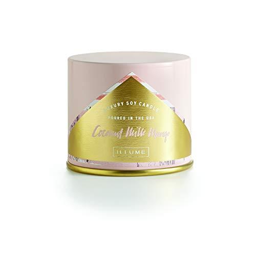 Illume Vanity Tin, Soy Candle, 11.8 oz, Coconut Milk Mango