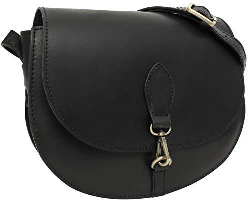 Gusti Umhängetasche Damen Leder - Wiebke Schultertasche Ledertasche Umhängetasche kleine Tasche crossbody bag Echtleder schwarz