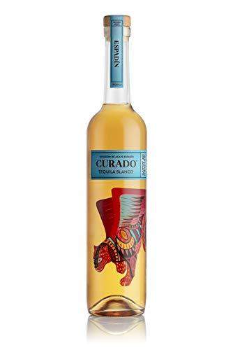 Curado - Tequila Premium Espadín, Tequila Macerado, Ahumado y con Toques Cítricos, Botella de 700ml