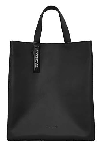 Liebeskind Berlin Damen Bos - Paperbag Tote Medium Handtasche, Black, M EU