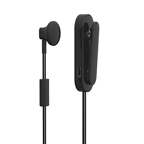 Majestic HD 15 BT - Mono Auricolare Bluetooth con Clip e Aggancio Auricolare Magnetico, Nero
