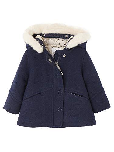 Vertbaudet Baby Mädchen Kapuzen-Mantel, gefüttert Nachtblau 80