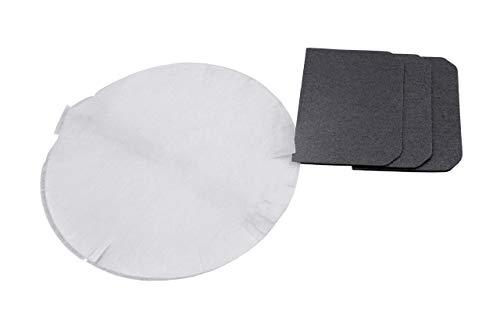 vhbw Filter Set, Aktivkohlefilter + Papierfilter passend für Fritteuse DeLonghi F28 und D28 Serie ersetzt 5512510041
