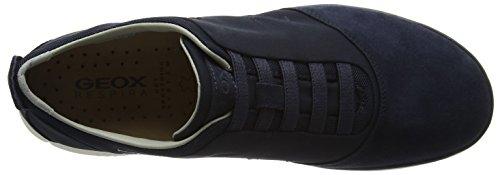 Geox U NEBULA B - zapatilla deportiva de cuero hombre, Azul (NAVYC4002), 45 EU