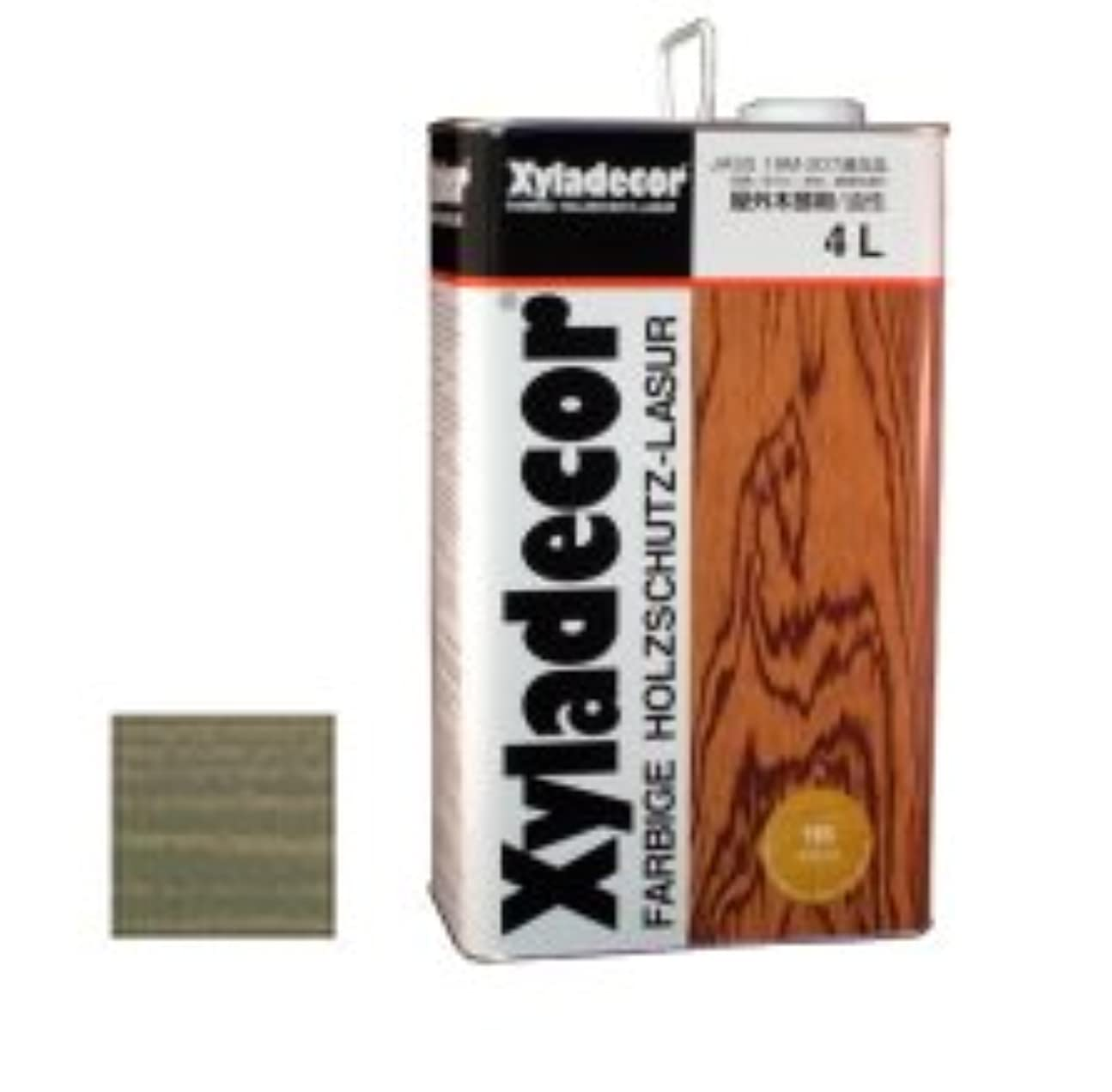 窓を洗う戦う野なキシラデコール 木部保護塗料 #116 ブルーグレイ 4L