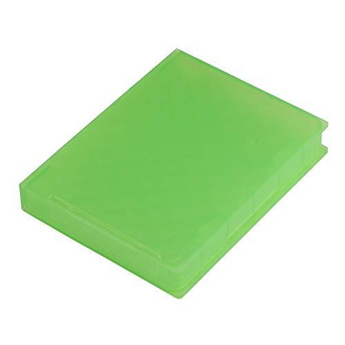 Estuche Protector de Disco Duro de Material PP de 2,5 Pulgadas a Prueba de Polvo, Humedad y antiestático con diseño de Apertura para HDD y SSD de 2,5'(Verde)