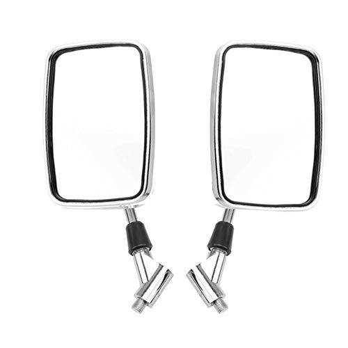 reflector de luz de espejo de motocicleta 1pair universal rectangular de aluminio de la motocicleta Espejos retrovisores Retrovisor 10mm Cromo De Moto Moto Espejo for Honda (Color : Style B)