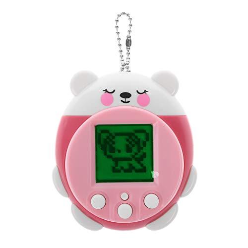KERDEJAR Mini Electronic Pets Toys 90S 9 Pets in One Virtual Cyber Pet Toy Divertente Regalo di Natale per Bambini Adulti Rosa
