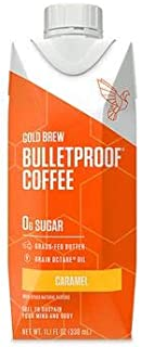 Bulletproof Cold Brew Coffee, Keto Friendly, Sugar Free, with Brain Octane oil and Grass-fed Butter (Caramel)