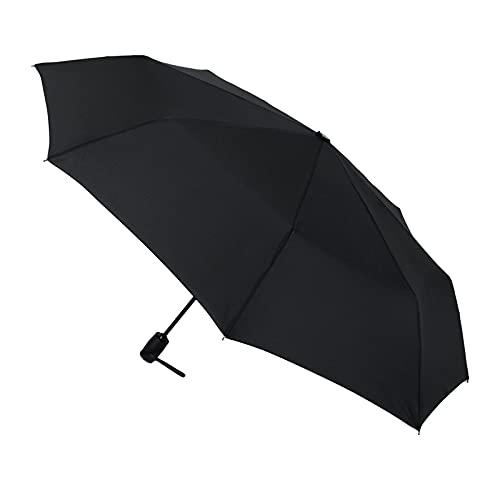 Paraguas Vogue. Paraguas plegable para hombre. Paraguas automático. Abre cierra. Antiviento y antigoteo. Paraguas negro
