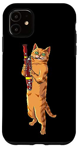 iPhone 11 Funny Cat Playing Bassoon | Cool Animal Lover Musician Gift Case