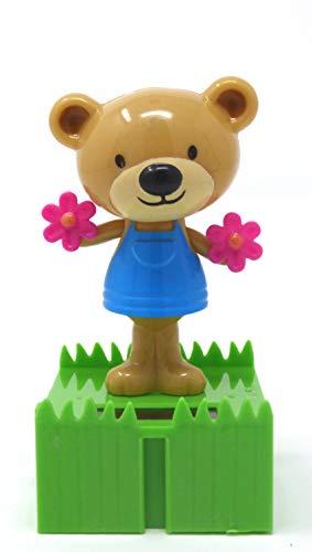 Greenbrier Plástico Solar se Puede conectar Dancing Bears con Flores Bobblehead