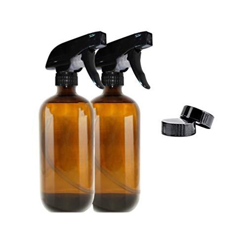 Beaupretty Conjunto Botellas Spray Vidrio Marrón