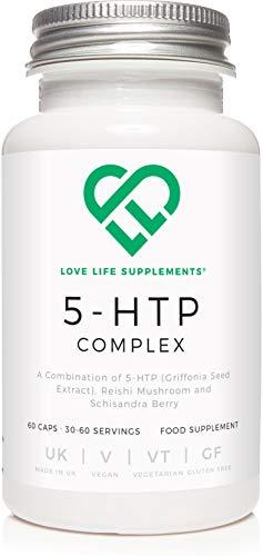 Love Life Supplements | 5-HTP Complex | Complesso 5-HTP | 100mg di cui 200mg di fungo Reishi e 200mg...