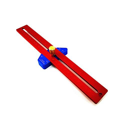 CarAngels 木工定規 スライディングスコヤ T型ケージ 45度・60度・90度 直角定規 大工の測定およびマーキング用 ケガキ工具 アルミ製 (YX300)