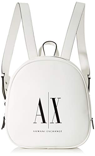 Armani Exchange Icon - Mochila, color Blanco, talla 27x9x24 cm (B x H x T)