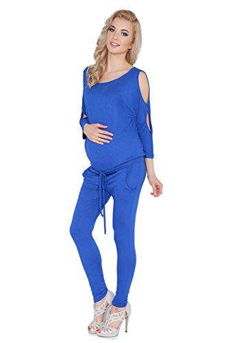 hoi moeder Womens moederschap Jumpsuit met zakken boot hals open mouw zwangerschap playsuit maten 8-14 1081