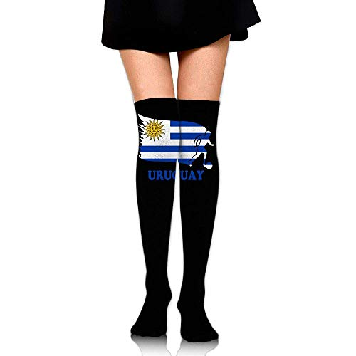 Nice-Guy Uruguay Fútbol Fútbol Bandera Chicas Sexy Sobre la rodilla Muslo Medias altas Medias