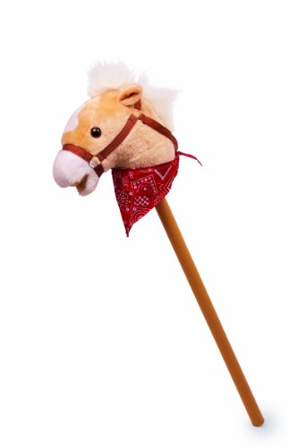 small foot company 4151 - Bastón con cabeza de caballo de peluche [Importado de Alemania]