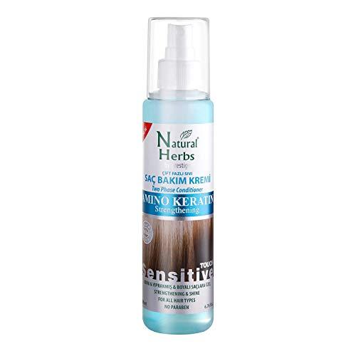 Seed Natural Herbs Amino Keratin 2-Phasen-Feuchtigkeitsspray- leave in conditioner Haar Pflegeformel 200 ml - haarpflege für trockenes haar- Keratin haarglättung und hitzeschutz für haare