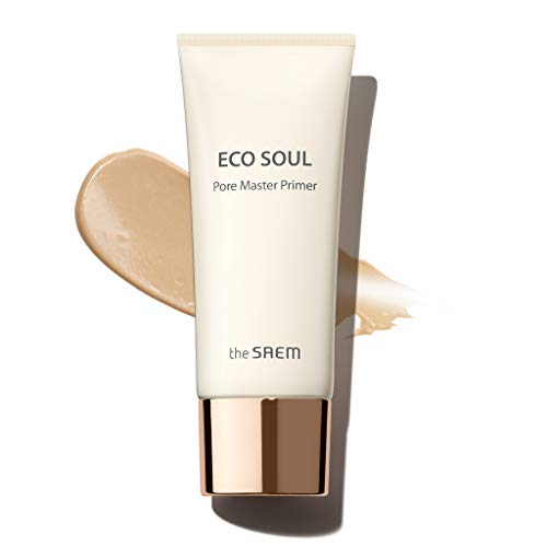 [the SAEM] Eco Soul Pore Master Primer 30ml - Pore Blur Silky and Vevety Makeup Primer, Oil Control Smooth Primer for Oily Skin