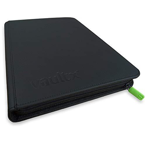 Vault X Premium eXo-Tec Zip Heftmappe - 9 Fächer Sammelkarten Trading Cards Mappe - 360 Fächer mit Seitenöffnung für Spielkarten zum sammeln und tauschen
