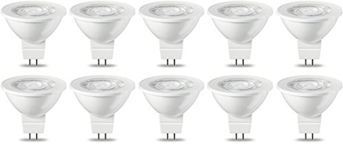 AmazonBasics GU5.3 LED Lampe MR16, 4.5W (ersetzt 35W), warmweiß, 10er-Pack