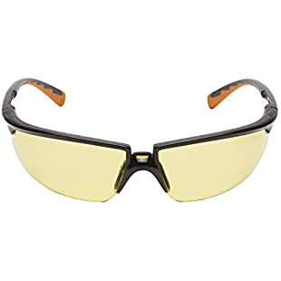 3M Comfort 2822C Safety Glasses for Minor Repair Work PRedection Against Fragments Anti-Scratch and Anti-Fog Coating Yellow Toned