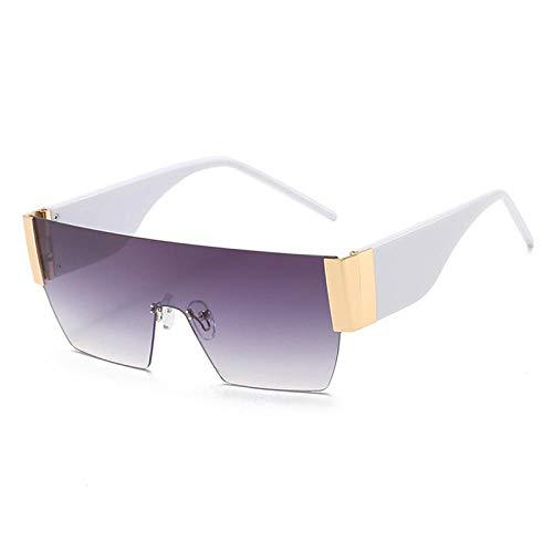 Gafas De Sol Gafas De Sol Sin Montura Cuadradas Mujeres Hombres Lente Tendencia Negro Rosa Azul Gafas De Sol Mujer Sombra Uv400