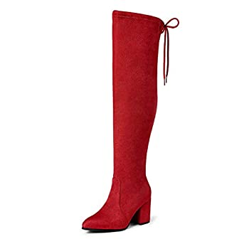 Best long red boots Reviews